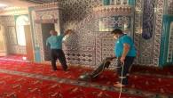 Antakya Belediyesi, Fahri Öksüz Camisinde temizlik ve hijyen çalışması gerçekleştirdi