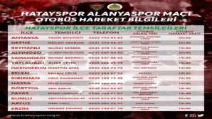 Atakaş Hatayspor Alanyaspor maçına 15 ilçeden araç kaldırılacak