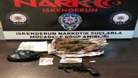 İskenderun'da 4 uyuşturucu satıcısında bir tabanca ile çeşitle uyuşturucu maddeler yakalandı