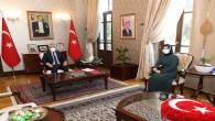 Vali Rahmi Doğan'a Şehit  Metin Kıldış'ın eşi Tuğba Klıdış'tan Ziyaret