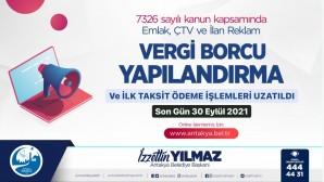Antakya Belediyesinden hatırlatma: Emlak, ÇTV, İlan reklam Vergileri için yapılandırma süresi uzatıldı