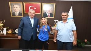 Antakyalı sporcu  Gülnaz Nur  Çevikkol  Karete Milli takımında