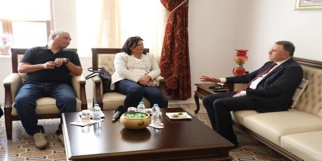 Aydın Belediye Başkanı Özlem Çerçioğlu'ndan Başkan Lütfü Savaş'a ziyaret