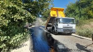 Hatay Büyükşehir Belediyesi Tahtaköprü'de yol çalışmalarını sürdürdü