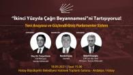 """CHP'den """"Yeni Anayasa ve Güçlendirilmiş Parlementer Sistem Nasıl olacaktır"""" paneli!"""
