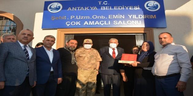 Şehit Piyade Uzman Onbaşı Emin Yıldırım çok amaçlı salon hizmete açıldı