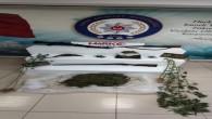 Defne Harbiye'de 1 kilo 674 gram esrar ile 3 Ruhsatsız av tüfeği yakalandı