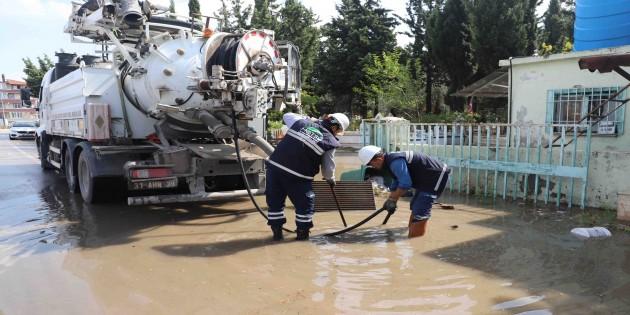 Şiddetli Yağışlar HAT SU ekiplerini teyakkuza geçirdi!