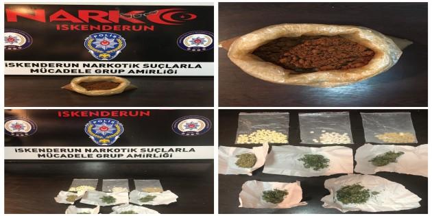İskenderun'da uyuşturucu satıcılarına operasyon: 134 göz altı, 11 kişi tutuklandı!