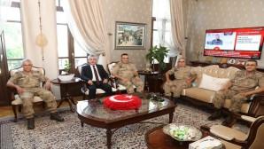 Jandarma Genel Komutanı Orgeneral Arif Çetin'den Vali Rahmi Doğan'a Ziyaret