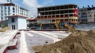 Samandağ'ındaki katlı oto parkta çalışmalar hızla ilerliyor