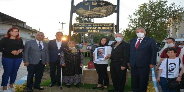 Şehit Sedat Gürbüz parkı dualarla açıldı