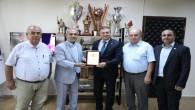 Türkiye Gazeteciler Federasyonu Heyeti Hatay Büyükşehir Belediye Başkanı Lütfü Savaş'ı ziyaret etti