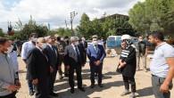 Hatay Valisi Rahmi Doğan Hassa Devlet hastanesi inşaatında incelemelerde bulundu