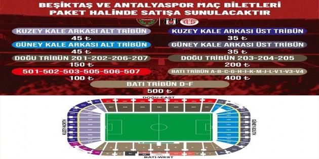 Atakaş Hatayspor Beşiktaş ve Antalyspor maçlarını tek biletle satacak