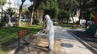 Hatay Büyükşehir Belediyesinin dezenfeksiyon çalışmalarında hız kesmiyor