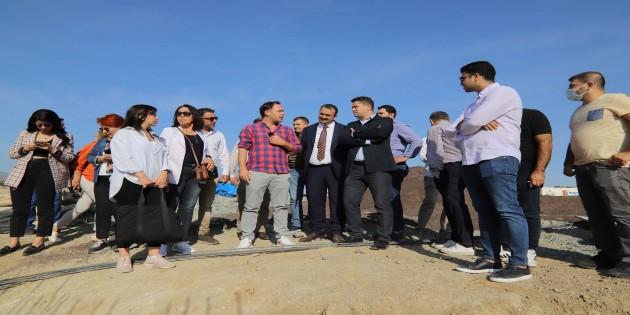 Mersin Büyükşehir Belediyesi Yöneticileri EXPO 2021 alanını ziyaret etti