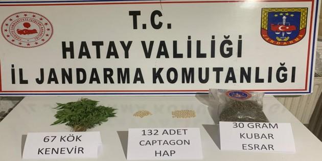 Samandağ ve Dörtyol'da Jandarma'dan Uyuşturucu kaçakçılarına operasyon
