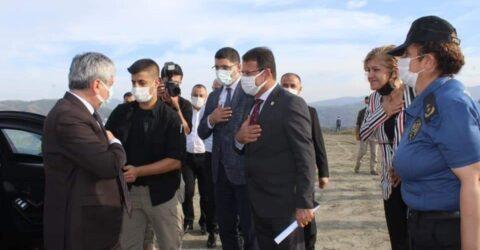 Hatay Valisi Rahmi Doğan  Samandağ Sanayi sitesinin yapımı için destek çıktı